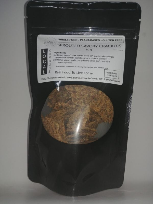 Savory Crakers Raw Sprouted Dehydrated 1